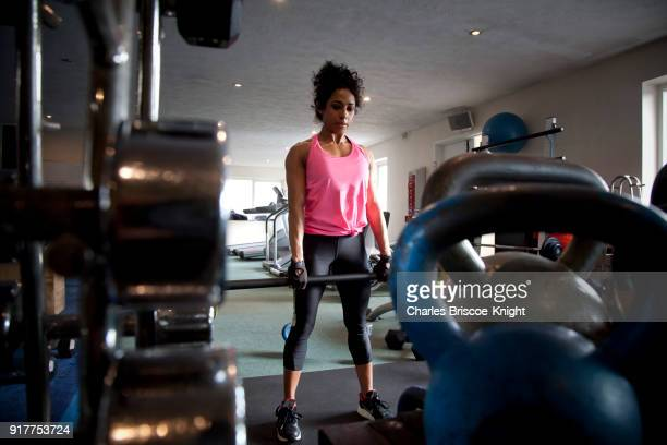 Tanya works out at the gym