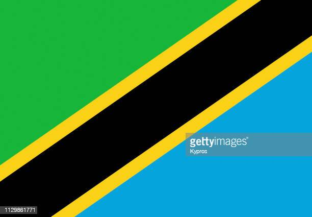 tanzania flag - tanzania stock pictures, royalty-free photos & images