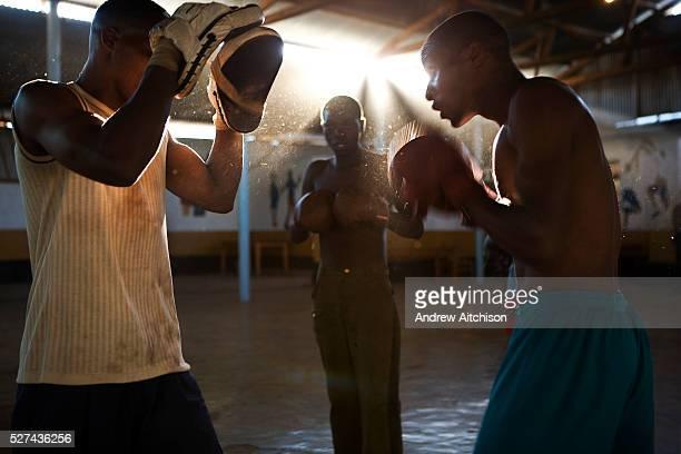 Tanzania Iringa Young men boxing