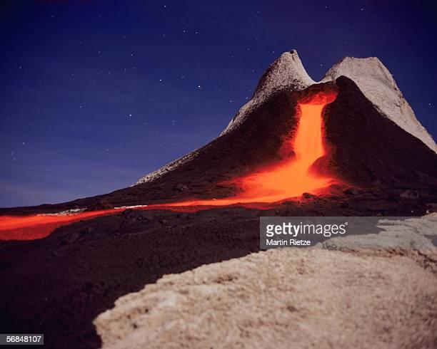 tanzania, volcano ol doinyo lengai - lava stock photos and pictures