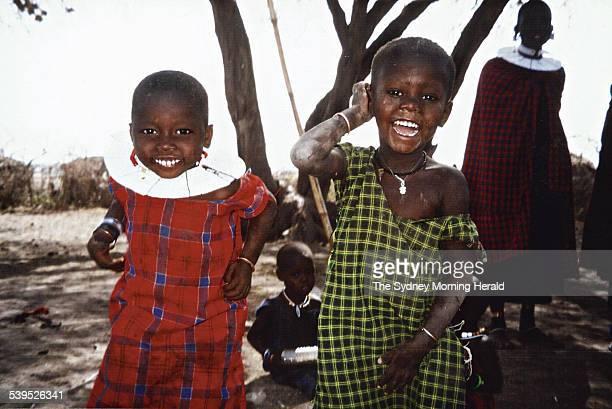 Tanzanian children dancing 8 December 2004 SMH PIcture by SUSAN WYNDHAM