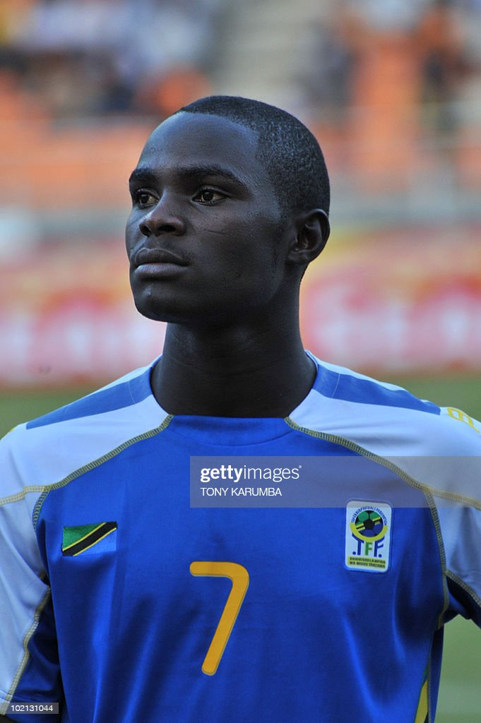 Tanzania's midfielder Kigi Makasi poses before a friendly match against Brazil on June 7, 2010, at the National stadium in Dar es Salaam, ahead of the WC2010 FIFA World Cup held in South Africa.