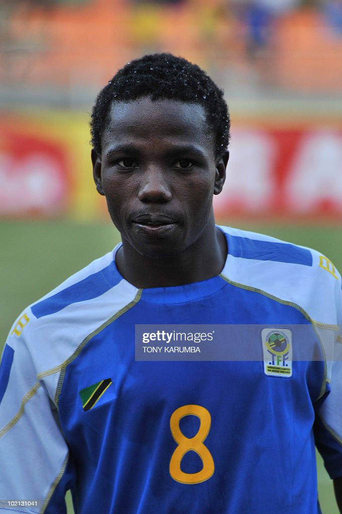 Tanzania's midfielder Mrisho Ngasa poses before a friendly match against Brazil on June 7, 2010, at the National stadium in Dar es Salaam, ahead of the WC2010 FIFA World Cup held in South Africa.