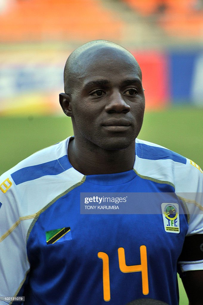 Tanzania's team captain Shadrack Nsajigwa poses before a friendly match against Brazil on June 7, 2010, at the National stadium in Dar es Salaam, ahead of the WC2010 FIFA World Cup held in South Africa.