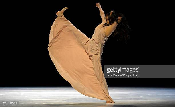Tanztheater Wuppertal PINA BAUSCH Company performing Like moss on a Stone at Sadlers Wells London UK Silivia Farias Heredia