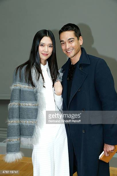 Tao and Tenzin Wild attend the Chloe show as part of the Paris Fashion Week Womenswear Fall/Winter 20142015 Held at Grand Palais on March 2 2014 in...