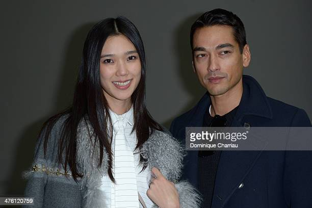 Tao and Tenzin Wild attend the Chloe show as part of the Paris Fashion Week Womenswear Fall/Winter 20142015 on March 2 2014 in Paris France