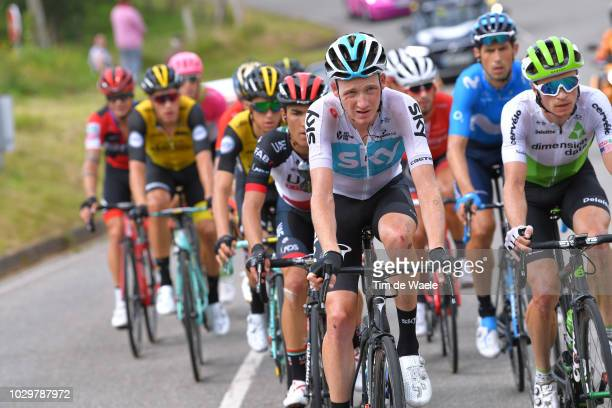 Tao Geoghegan Hart of Great Britain and Team Sky / during the 73rd Tour of Spain 2018 Stage 15 a 1782km stage from Ribera de Arriba to Lagos De...