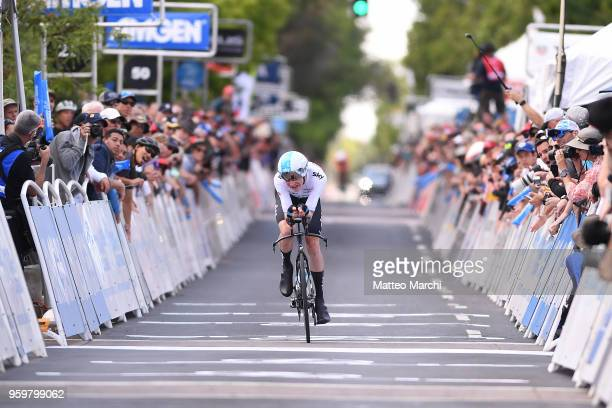 Tao Geoghegan Hart of Great Britain and Team Sky rides during stage four of the 13th Amgen Tour of California 2018 San Jose / Morgan Hill a 347 km...