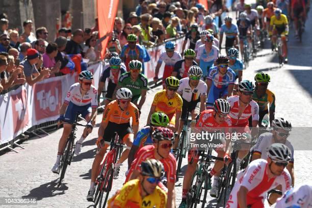 Tao Geoghegan Hart of Great Britain / Bauke Mollema of The Netherlands / Mikel Nieve Iturralde of Spain / Vasil Kiryienka of Belarus / Innsbruck City...