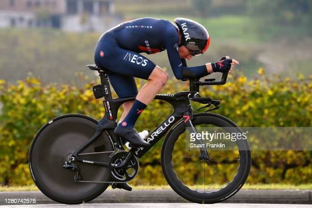 Tao Geoghegan Hart of The United Kingdom and Team INEOS Grenadiers / during the 103rd Giro d'Italia 2020, Stage 14 a 34,1km individual Time Trial...