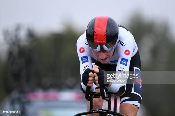 Tao Geoghegan Hart of The United Kingdom and Team INEOS Grenadiers White Best Young Rider Jersey / during the 103rd Giro d'Italia 2020, Stage 21 a...
