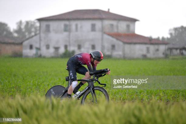 Tao Geoghegan Hart of United Kingdom and Team INEOS / during the 102nd Giro d'Italia 2019 Stage 9 a 348km Individual Time Trial from Riccione to San...