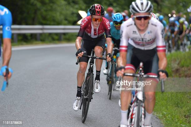 Tao Geoghegan Hart of United Kingdom and Team INEOS / during the 102nd Giro d'Italia 2019 Stage 13 a 196km stage from Pinerolo to Ceresole Reale...