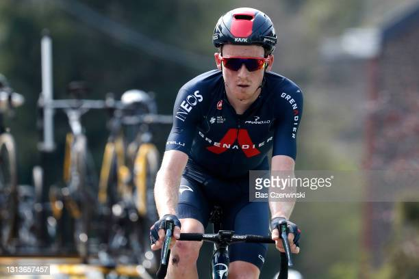 Tao Geoghegan Hart of United Kingdom and Team INEOS Grenadiers on arrival during the 85th La Fleche Wallonne 2021, Men Elite a 193,6km race from...