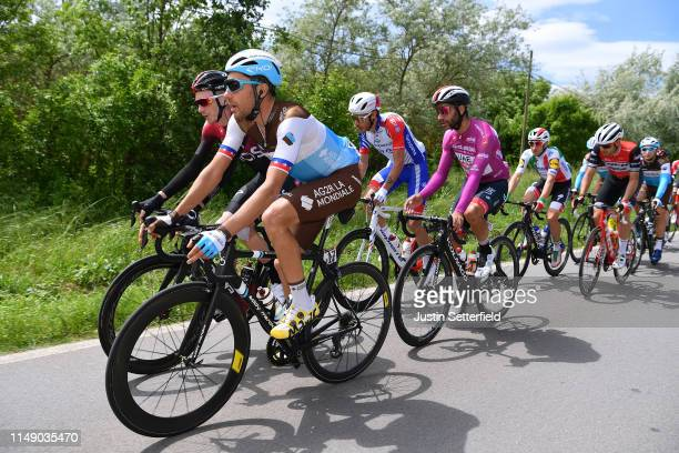 Tao Geoghegan Hart of United Kingdom and Team INEOS / Larry Warbasse of United States and and Team AG2R La Mondiale / Fernando Gaviria Rendon of...