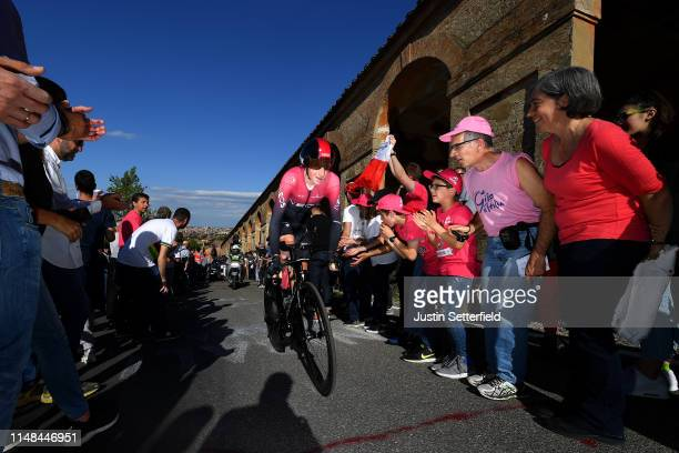 Tao Geoghegan Hart of United Kingdom and Team INEOS / Public / Fans / during the 102nd Giro d'Italia 2019 Stage 1 a 8km Individual Time Trial from...