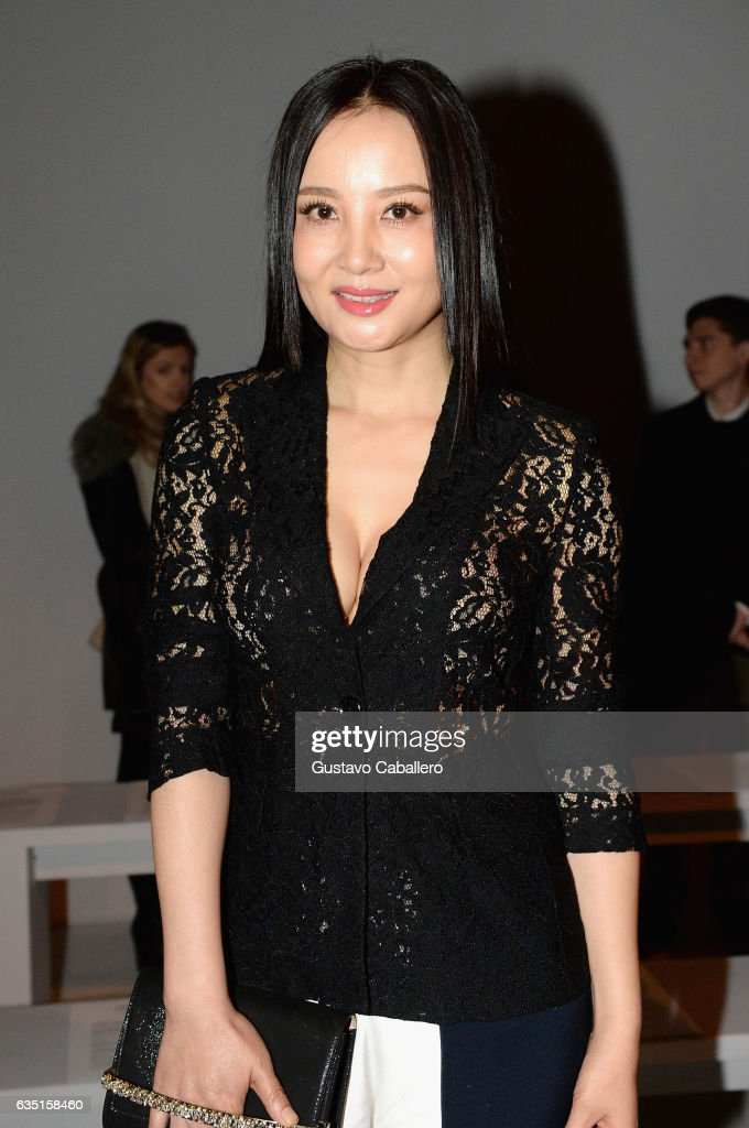 Tao Hong attends the Calvin Luo collection during, New York Fashion Week: The Shows at Gallery 3, Skylight Clarkson Sq on February 13, 2017 in New York City.
