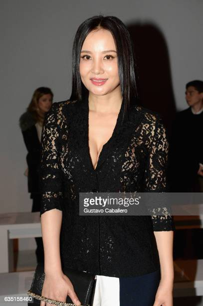 Tao Hong attends the Calvin Luo collection during New York Fashion Week The Shows at Gallery 3 Skylight Clarkson Sq on February 13 2017 in New York...