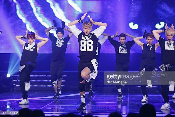 Tao of boy band EXO performs onstage during the Mnet 'M CountDown' at CJ EM Center on June 27 2013 in Seoul South Korea
