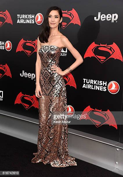 Tao Okamoto attends 'Batman V Superman Dawn Of Justice' New York premiere at Radio City Music Hall on March 20 2016 in New York City