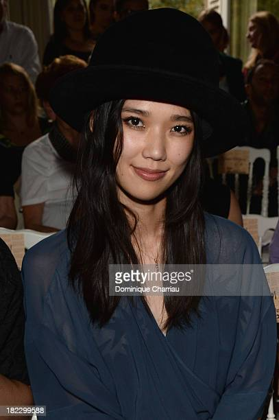 Tao Okamoto attends John Galliano show as part of the Paris Fashion Week Womenswear Spring/Summer 2014 on September 29 2013 in Paris France