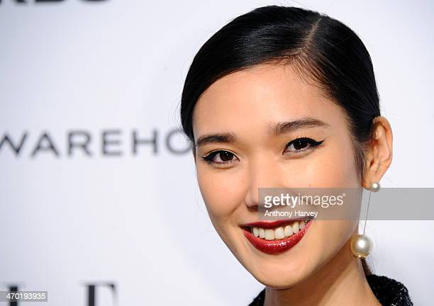 Tao Okamoto attends the Elle Style Awards 2014 at one Embankment on February 18 2014 in London England