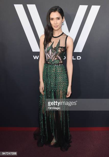 Tao Okamoto attends the Los Angeles Season 2 premiere of the HBO Drama Series WESTWORLD at The Cinerama Dome on April 16 2018 in Los Angeles...