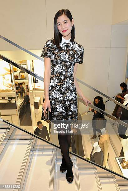 Tao Okamoto attends the Michael Kors Miranda Eyewear Collection Event on February 18 2015 in New York City