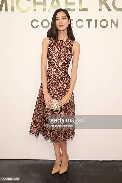 Tao Okamoto attends the Michael Kors Spring 2016 Runway Show during New York Fashion Week The Shows at Spring Studios on September 16 2015 in New...