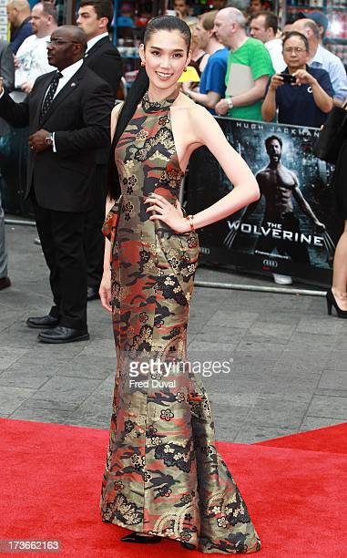 Tao Okamoto attends the UK film premiere of 'The Wolverine' at The Empire Cinema on July 16 2013 in London England