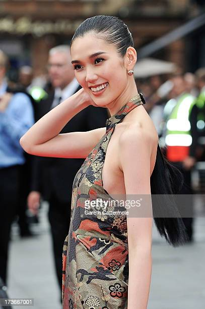 Tao Okamoto attends the UK Premiere of 'The Wolverine' at Empire Leicester Square on July 16 2013 in London England