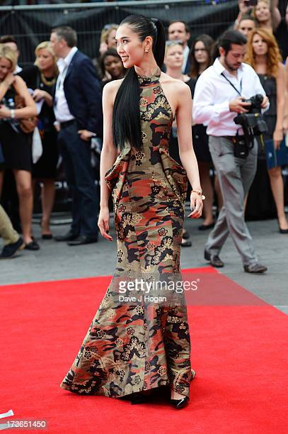 Tao Okamoto attends the UK premiere of 'The Wolverine' at The Empire Leicester Square on July 16 2013 in London England