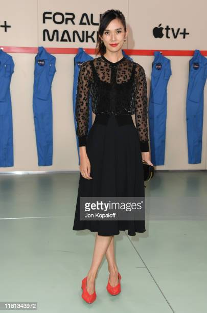 Tao Okamoto attends the World Premiere Of Apple TV's For All Mankind at Regency Village Theatre on October 15 2019 in Westwood California