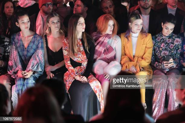 Tao Okamoto Nina Agdal Angela Sarafyan Bella Thorne Dani Thorne and a guest attend the Prabal Gurung front row during New York Fashion Week The Shows...