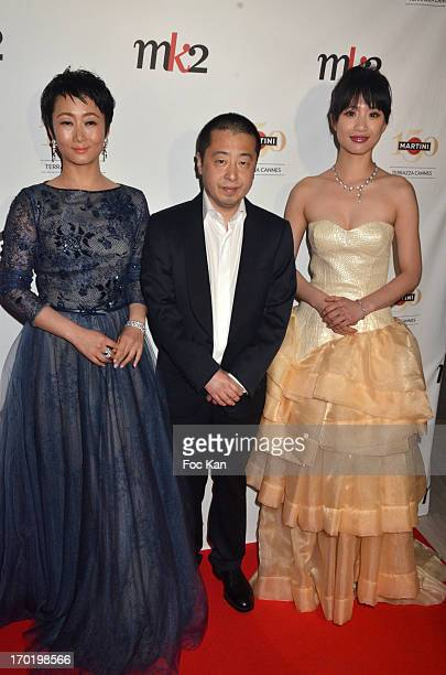 Tao Zaho Director Jia Zhang Ke and Meng Li attend the 'The Touch of Sin' Private Cocktail during the Terrazza Martini at The 66th Annual Cannes Film...