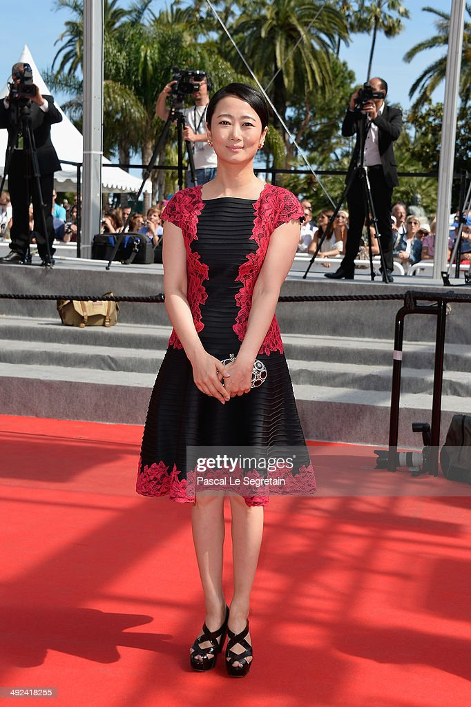 Tao Zhao attends the 'Futatsume No Mado' premiere during the 67th Annual Cannes Film Festival on May 20, 2014 in Cannes, France.