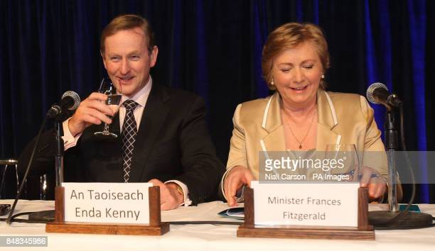Taoiseach Enda Kenny and Children's Minister Frances Fitzgerald at the launch of Hiqa's new National Standards for the Protection and Welfare of...