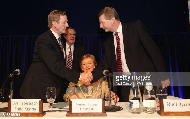 Taoiseach Enda Kenny and Children's Minister Frances Fitzgerald meets Niall Byrne Chief Inspector at the launch of Hiqa's new National Standards for...