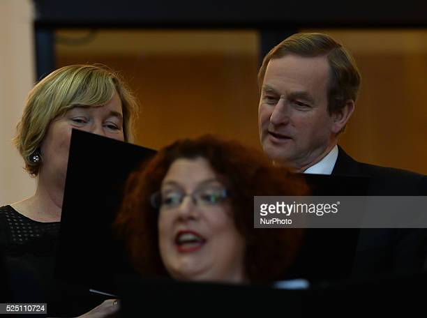 Taoiseach Enda Kenny joins the department's staff choir for an annual lunchtime recital of Christmas Carols at Government Buildings Government...