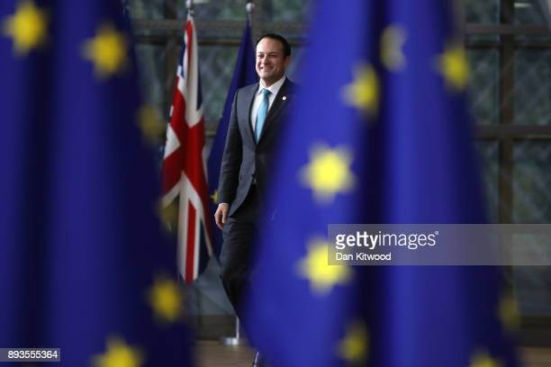 Taoiseach Ireland Leo Varadkar arrives for the European Union leaders summit at the European Council on December 14 2017 in Brussels Belgium The...
