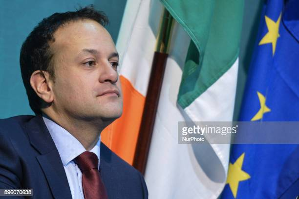 Taoiseach Leo Varadkar speaks at the launch Bliain na Gaeilge 2018 in the Government Press Centre On Wednesday 20 December 2017 in Government...