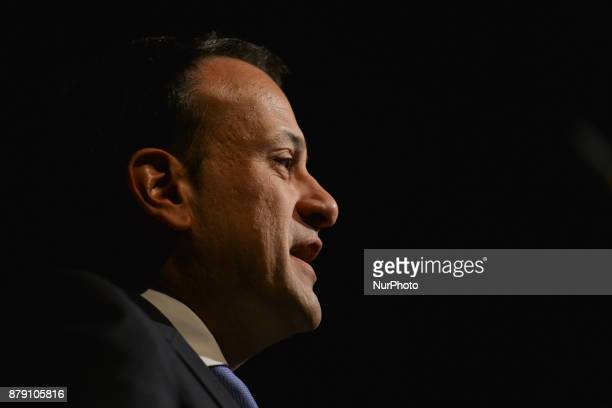 Taoiseach Leo Varadkar speaks during the opening of #FemFest a conference for young women aged 1625 discussing leadership equality and planning for...