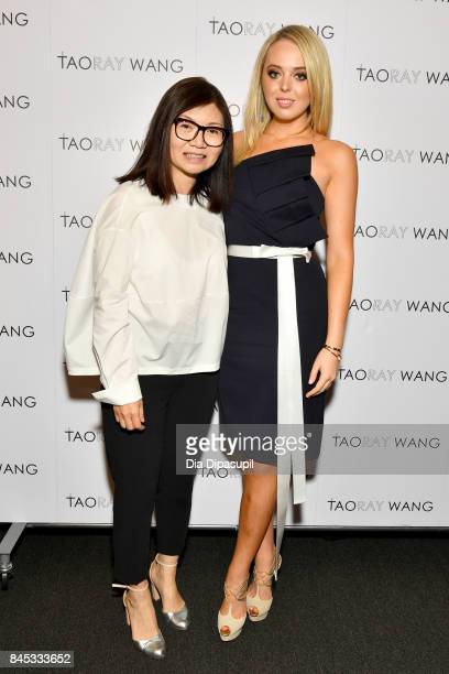 Taoray Wang and Tiffany Trump pose backstage for the Taoray Wang fashion show during New York Fashion Week The Shows at Gallery 1 Skylight Clarkson...