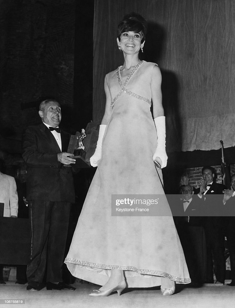 Taormina, Audrey Hepburn At The Cinema Festival. August 9Th 1965