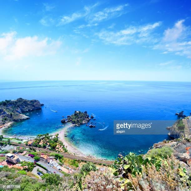 taormina beach, sicily - giardini naxos stock pictures, royalty-free photos & images