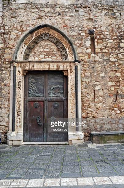 taormina, italy - giardini naxos stock pictures, royalty-free photos & images