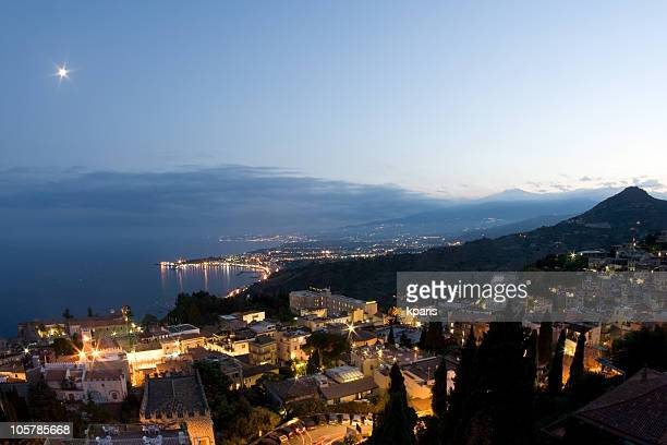 Taormina Landschaft, Sizilien