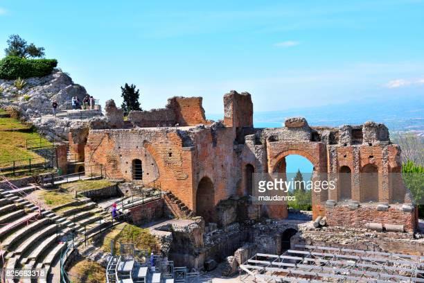 taormina sicily italy - giardini naxos stock pictures, royalty-free photos & images