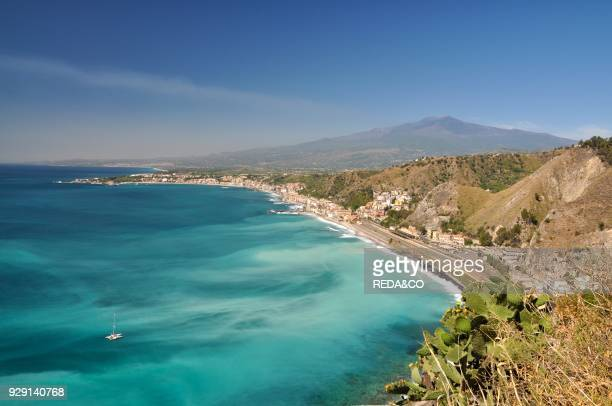 TaorminaGiardini Naxos bay Etna Sicily Italy Europe